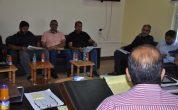 اجتماع المعاون الفني مع اللجان التنفيذية للمشاريع .