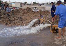 اعمال مديرية ماء البصرة ايوم 30/12/2018